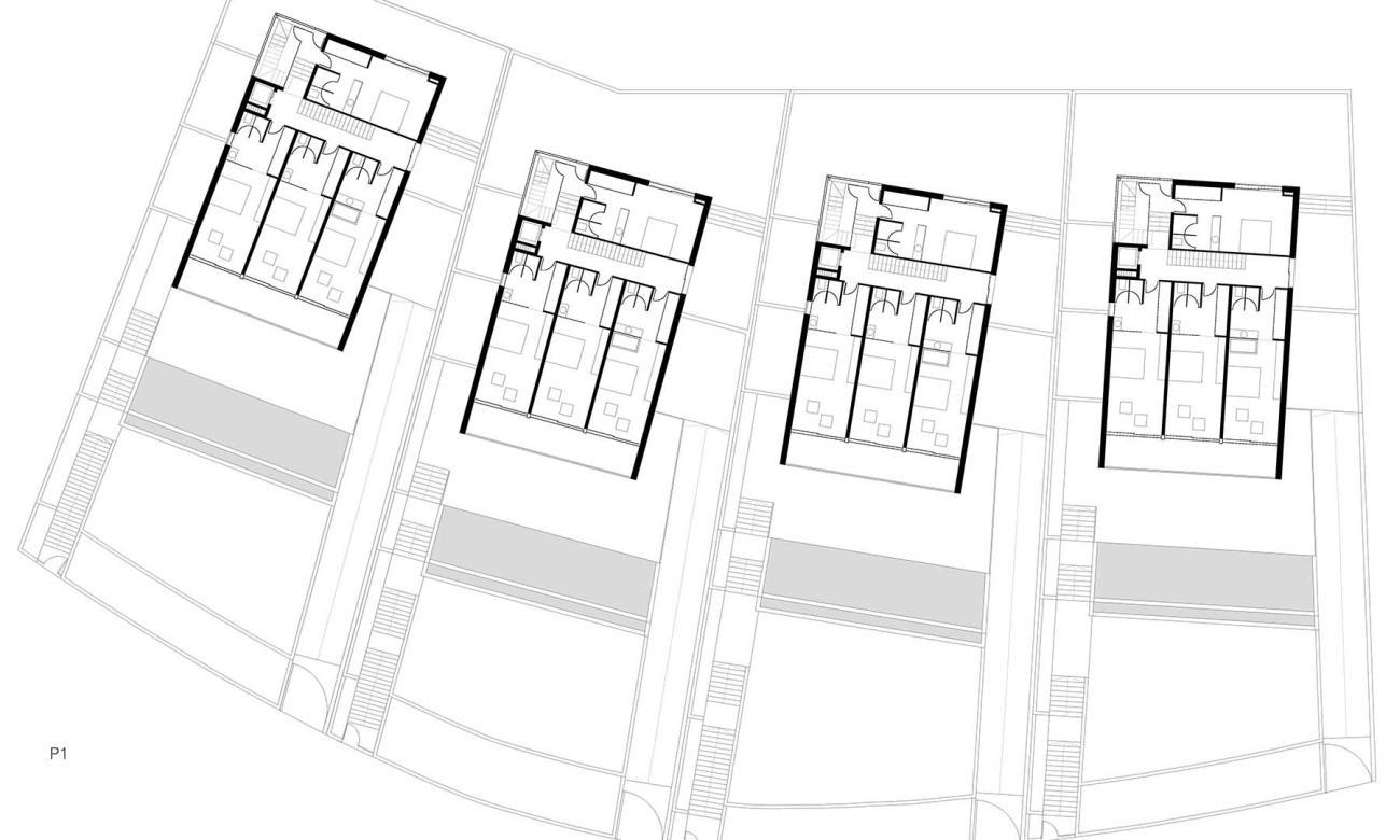 agcAr: 4 viviendas unifamiliares en Aucanada